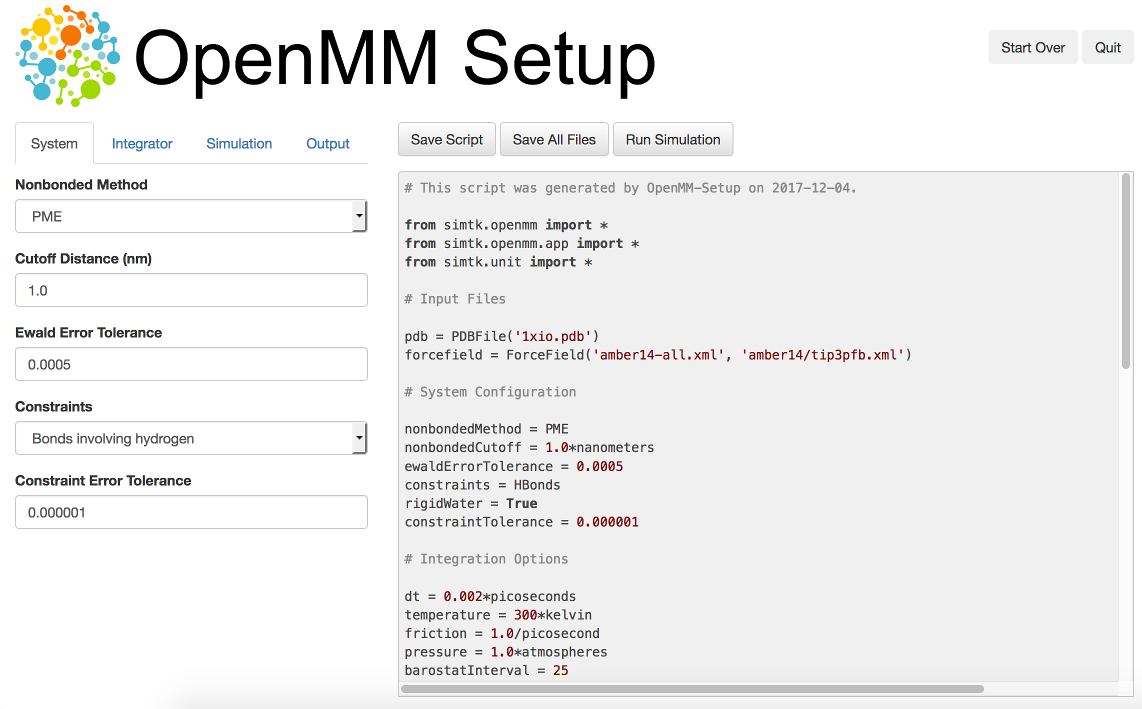 2  The OpenMM Application Layer: Getting Started — OpenMM